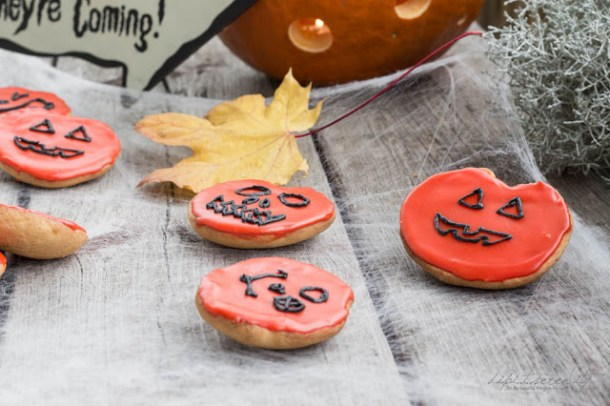 Halloween Amerikaner mit Zuckerguss