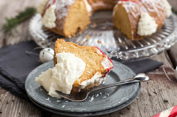 Amarula Bundt-Cake mit Mascarpone-Zimt-Sahne