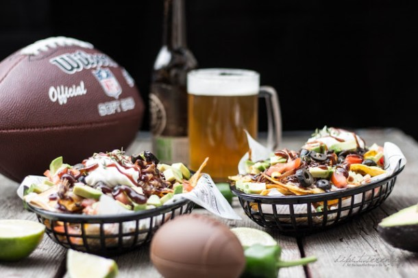 Beer Pulled Pork Nachos - Super Bowl 50 Snack