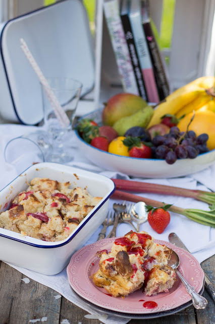 Tchibo Landhausküche - dipitserenity - Erdbeer Rhabarber Auflauf