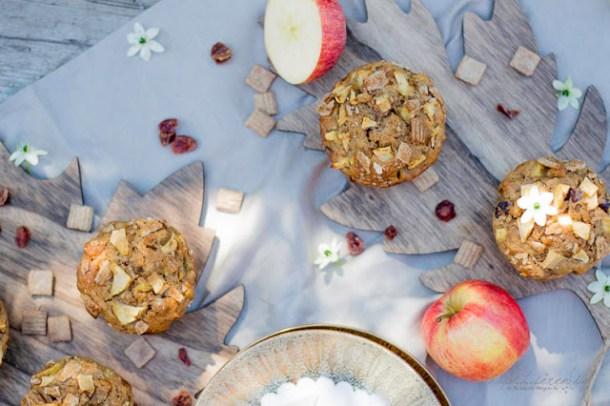 Apfel-Cranberry Knusper Muffins mit Cini-Minis