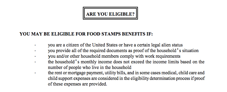 What Take Apply Food Stamps