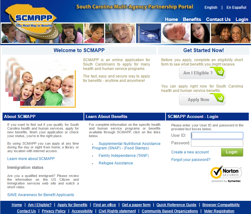 Apply for Food Stamps in South Carolina Online