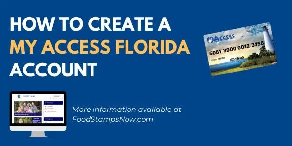 Create a My Access Florida Account