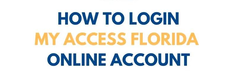 Login ACCESS Florida online account