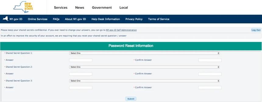Mybenefits.ny.gov Create an Account Step 4