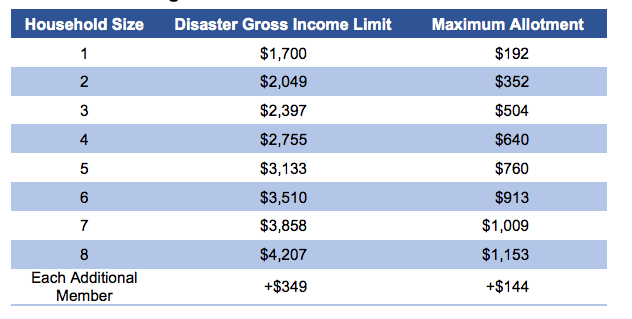 """""""disaster food stamps in Georgia"""""""