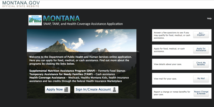 """""""Apply for Food Stamps in Montana Online"""""""
