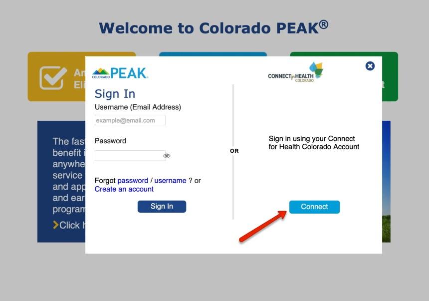 Colorado PEAK Login 3