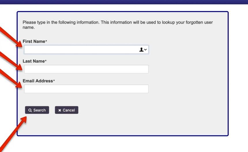 EPass NC Gov Forgot Username 3