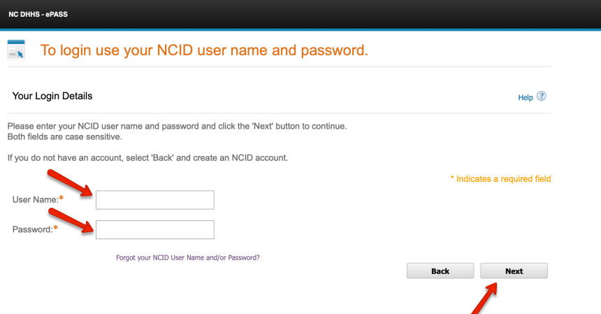EPass NC Gov Login 3