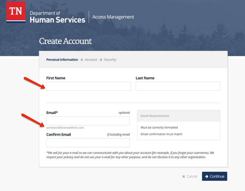 """""""How to Create a Tennessee DHS Account"""""""