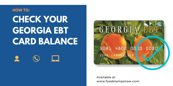 How to Check your Georgia EBT Card Balance