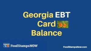 """""""How to Check your Georgia EBT Card Balance"""""""