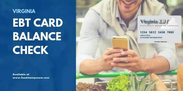 """""""Virginia EBT Card Balance Check"""""""