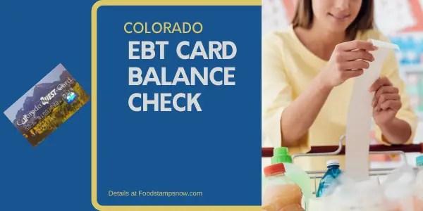 Colorado EBT Card Balance – Phone Number and Login - Food ...