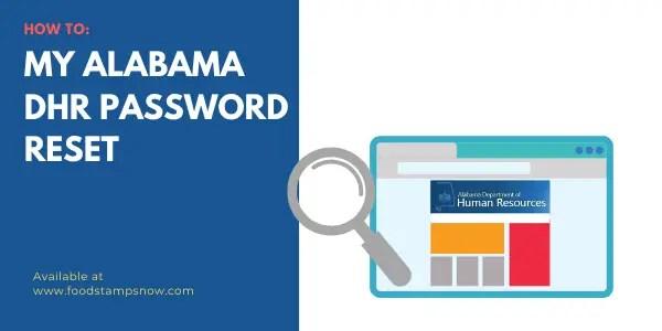My Alabama Password reset
