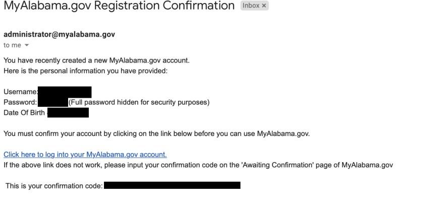 Alabama DHR Account Registration