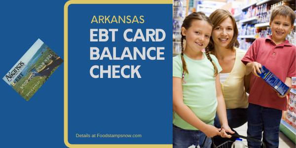 """Check Your Arkansas EBT Card Balance"""