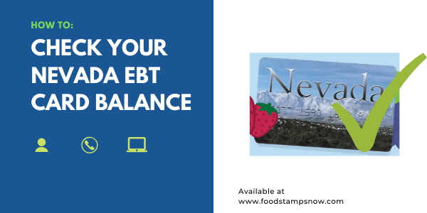How to Check your Nevada EBT Card Balance