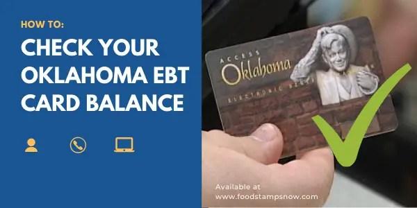 How to Check your Oklahoma EBT Card Balance