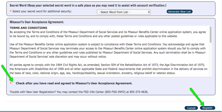 """""""How to Create Mydss Missouri Account - Accept agreement"""""""