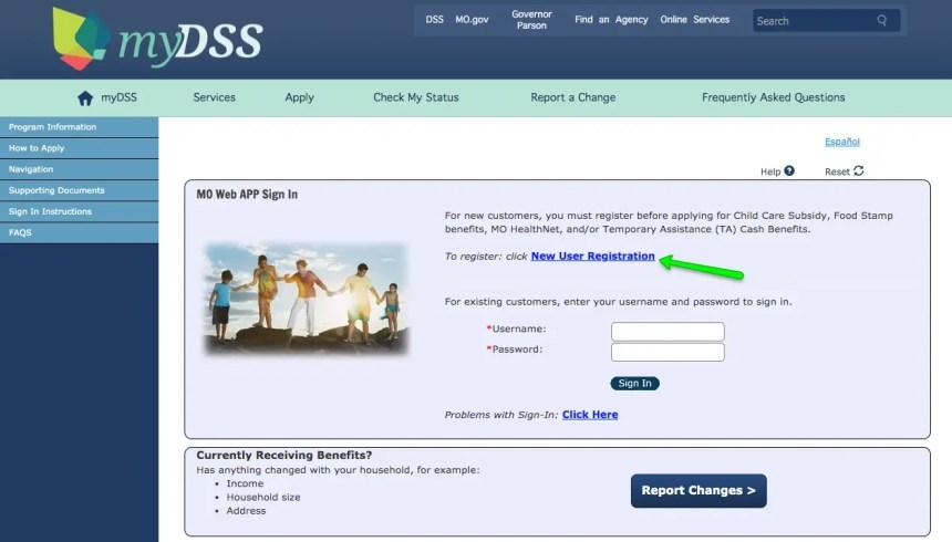 """How to Create Mydss Missouri Account - New User"""