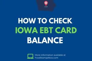 Iowa EBT Card Balance Check
