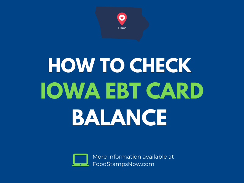 Iowa EBT Card Balance Check