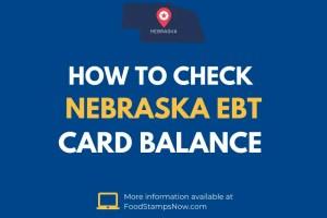 Nebraska EBT Card Balance Check