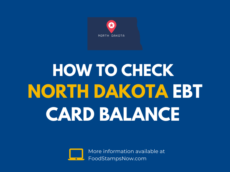 North Dakota EBT Card Balance Check