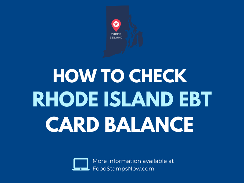 Rhode Island EBT Card Balance Check