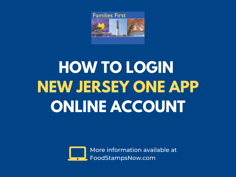 How to login New Jersey OneApp Online Account