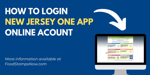NJ One App Login Help