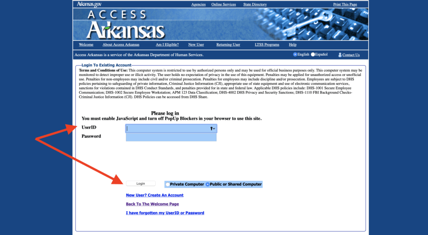 www.Access.Arkansas.gov Login