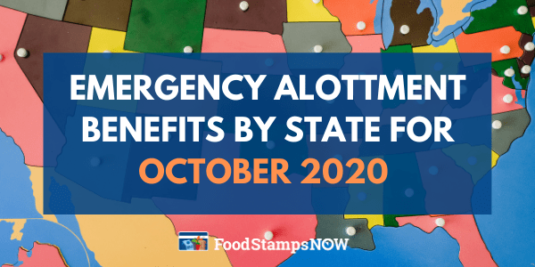 Emergency Allotment by State - October 2020