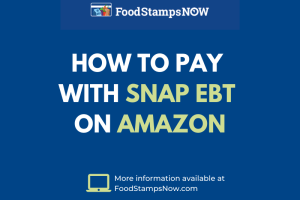 """How do I pay with EBT on Amazon"""