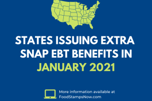 Extra SNAP benefits in January 2021