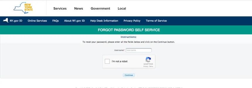 """NY Mybenefits.ny.gov password reset"""