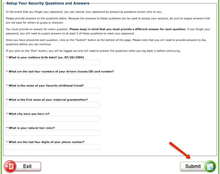 """dcfs.la.gov LA CAFE Create Account - step 5"""