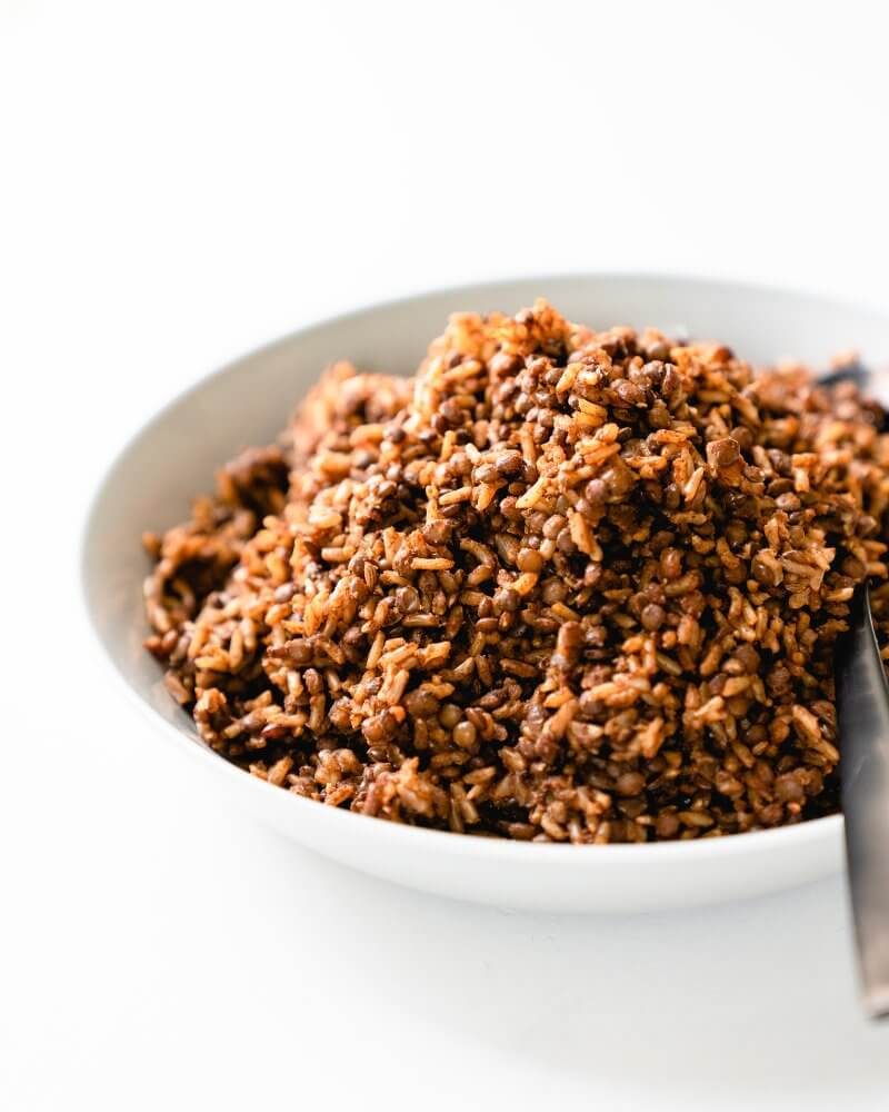 """""""Smoky Instant Pot Lentils and Rice"""""""