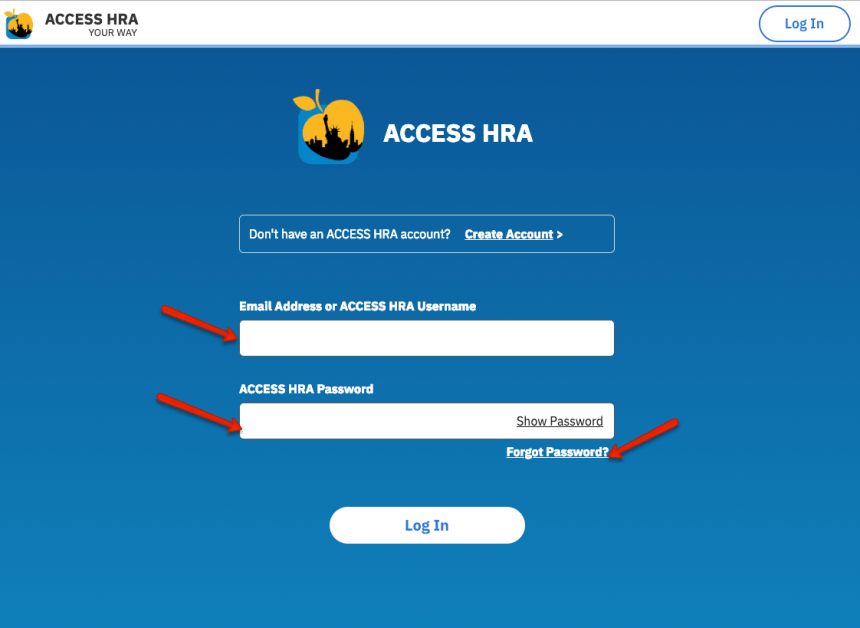 """NYC ACCESS HRA Login"""