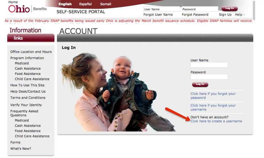 """""""How to create benefits.ohio.gov account"""""""