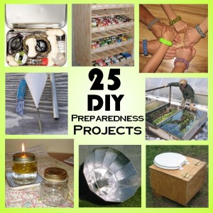 25 easy DIY prepper projects for preparedness and survival.