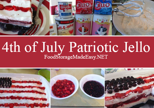 4th of July Patriotic Jello would make a great hit at any event!