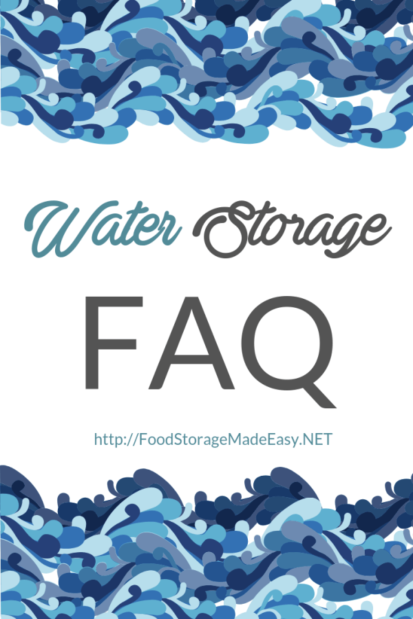 water storage faq