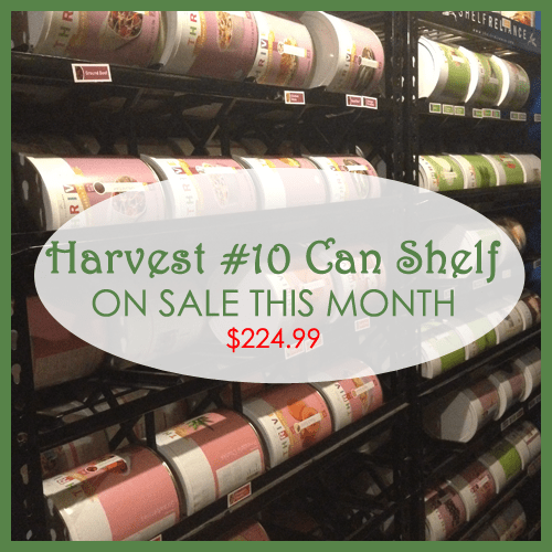 Harvest #10 Can Shelf ON SALE in May