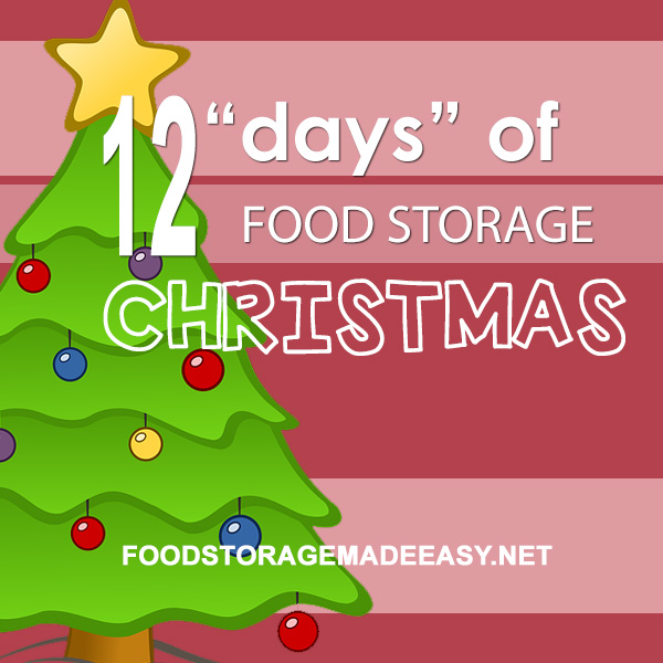 12 Days of Food Storage Christmas - Budget friendly gift ideas for increasing preparedness awareness