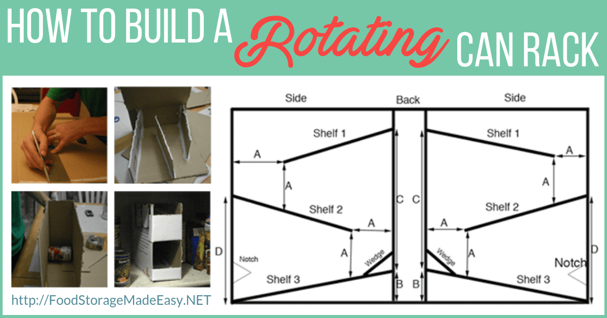 tutorial how to build a rotating can rack food storage made easy rh foodstoragemadeeasy net