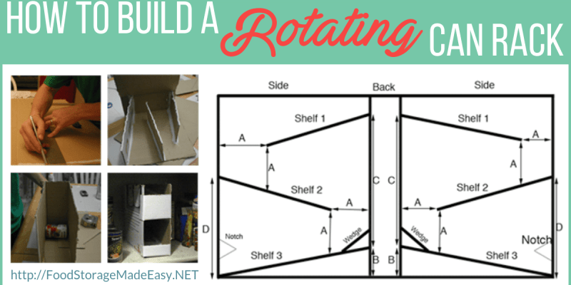 rotating can rack